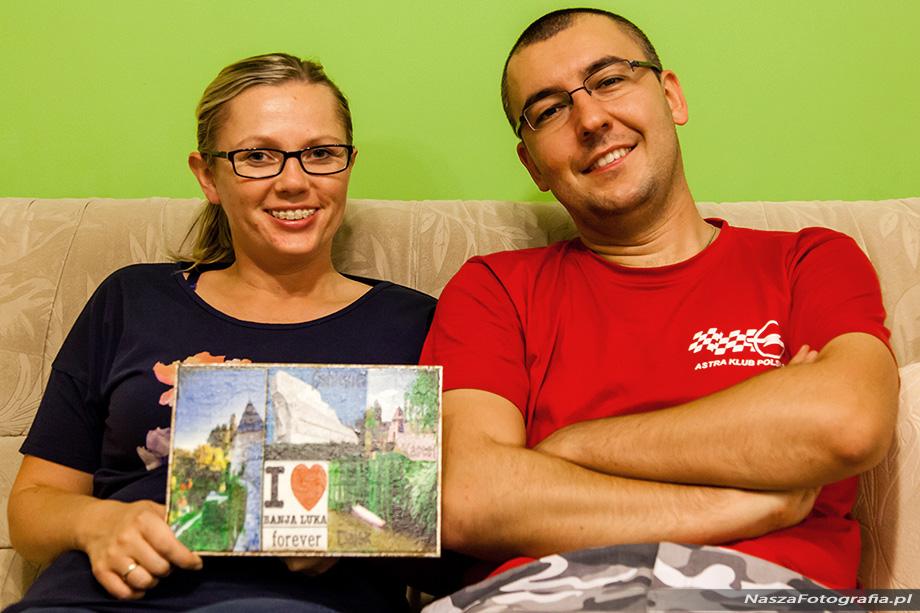 Ania i Mateusz w domu